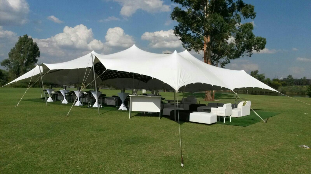 Sky Tents has stretch tents for any event. Best use, garden parties, weddings, corporate launches and banquets.
