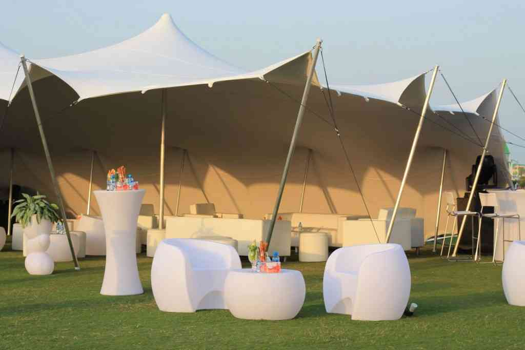Stretch tents will definitely impress your guests and create an ambiance where nobody wants to leave the event, but stay, relax and have a great time.